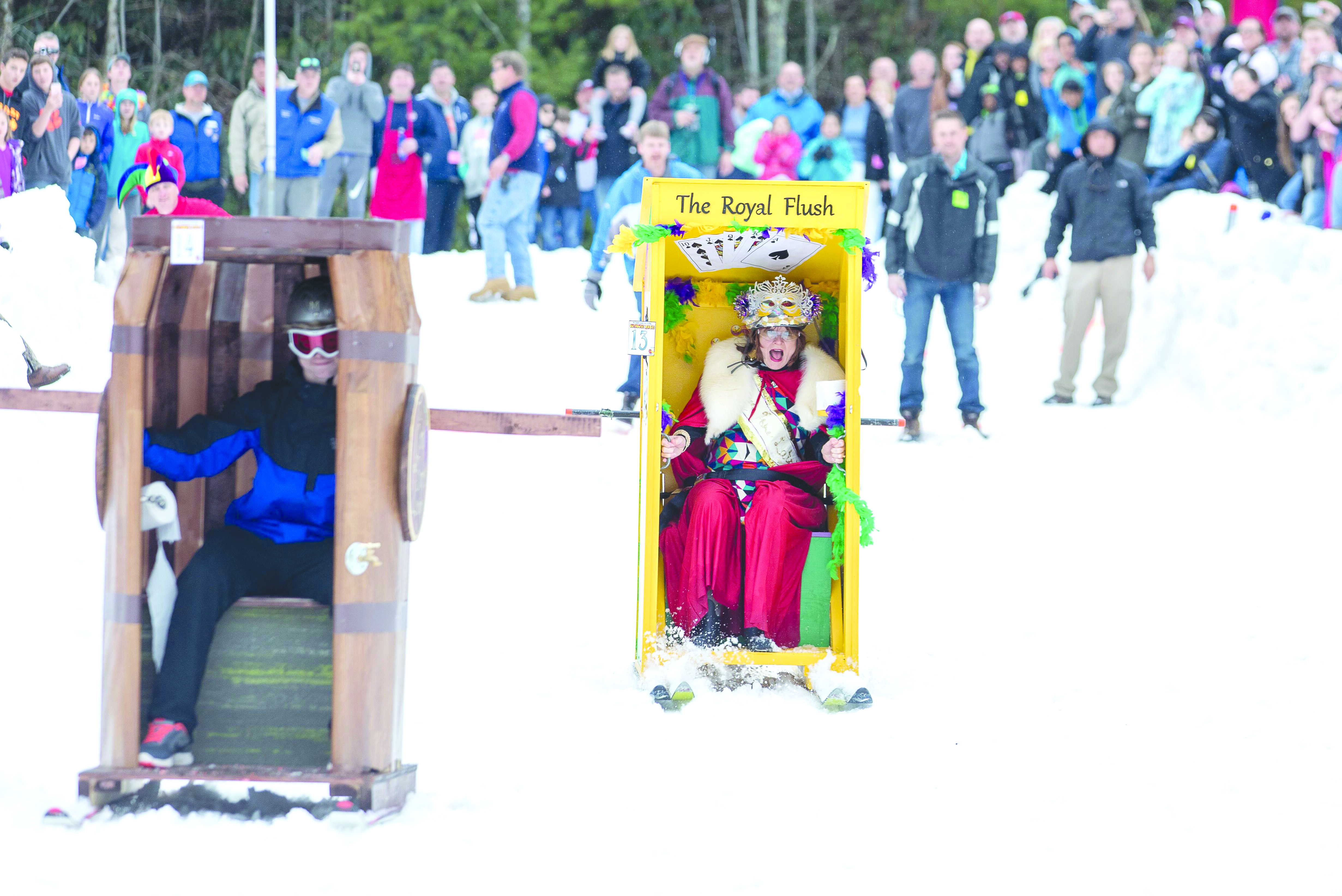 The 14th Annual Outhouse Races are coming to Sapphire Valley Resort on Feb. 15.