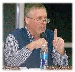 A Cashiers Democratic official is calling on Republicans to step up and help Dist. 4 Commissioner Mickey Luker resolve his meeting attendance issues -- or to secure his resignation. Dist. 4 includes most of southern Jackson County. (Photo by Don Richeson.)