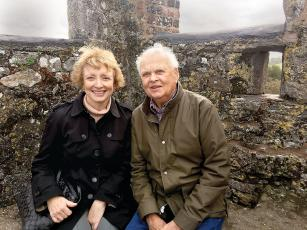 Sapphire residents Melissa and Bob Reed soak in the sights at the Blarney Stone in Ireland this fall.