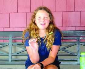 Maddie Newsom is making a difference in the world with the development of a reusable straw.