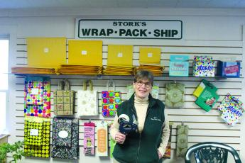 Carole Stork is the owner of Stork's Wrap, Pack and Ship, a business serving the shipping needs of plateau residents.