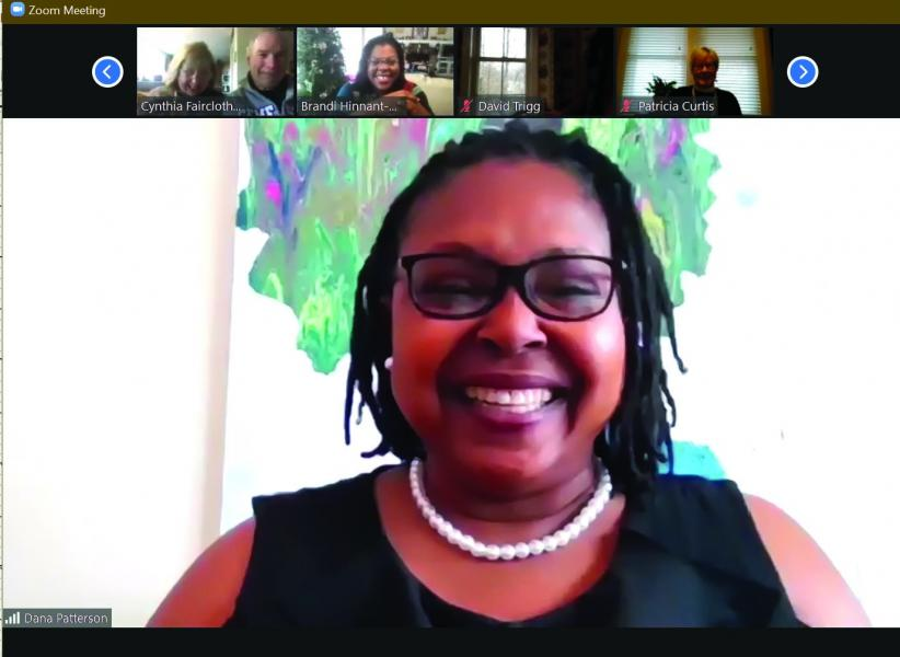 Dr. Dana Patterson presides over her first meeting as president of the Jackson County NAACP branch on Jan. 16. The branch has been meeting virtually on Zoom for the duration of the COVID-19 pandemic.